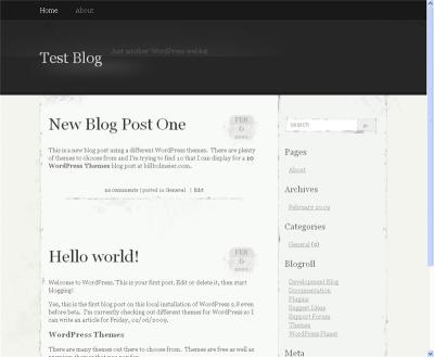 WordPress Theme Elegant Grunge