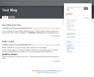 WordPress Theme Fusion
